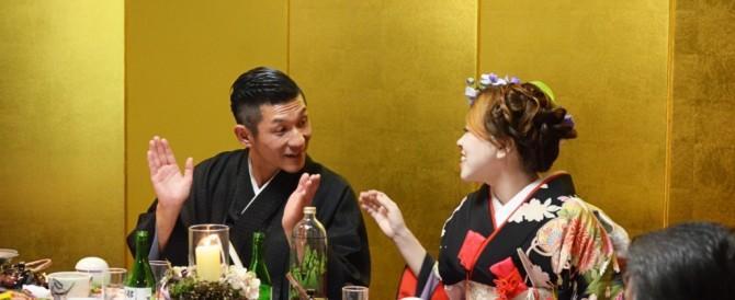 吉本お笑い芸人 哲夫さんの披露宴をさせて頂きました。